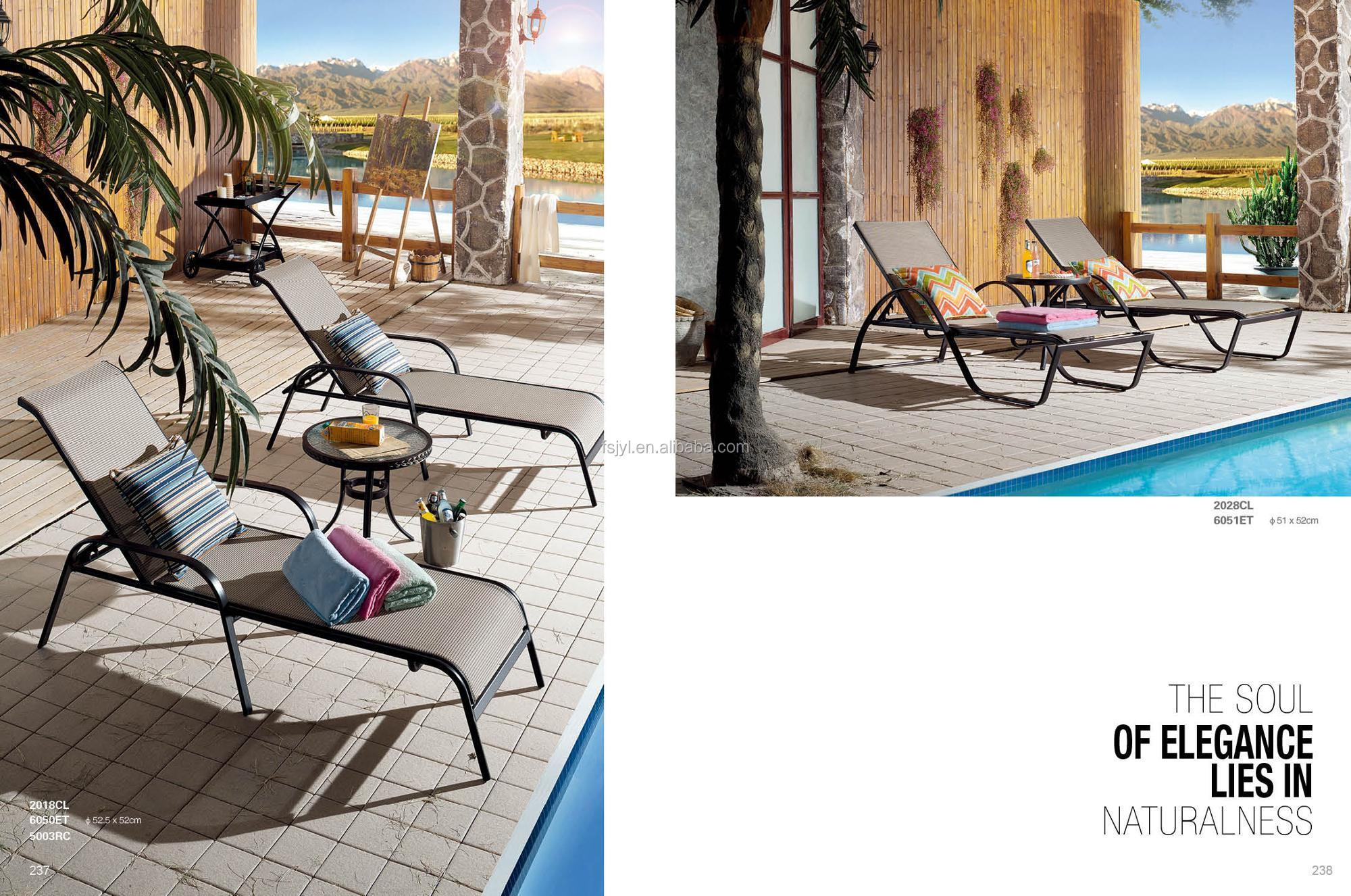 patio beach garden furniture outdoor recliner chair lounger