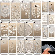 Silikonový kryt na telefon – průhledný s bílým motivem