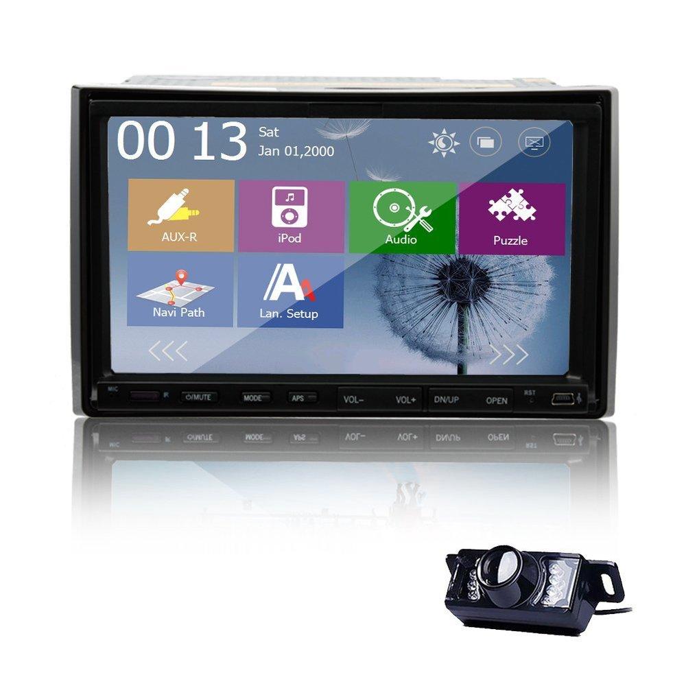 free gps map and hd backup camera 7 in dash 2 din gps. Black Bedroom Furniture Sets. Home Design Ideas
