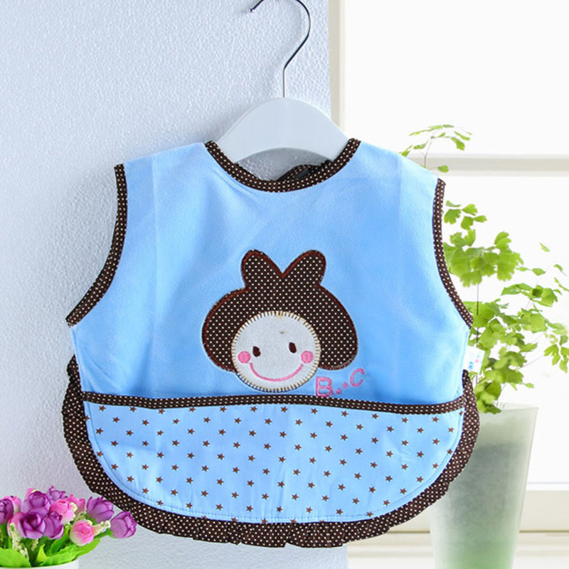Colorful Cotton Baby Feeding Bibs For Girl Cartoon Waterproof Children Burp Cloths Accessories Mother Care Clothing 707