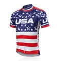 2016 Men Bike Jersey Short Sleeve Outdoor Sportwear Cycling Shirt Top Summer USA Star CC6106