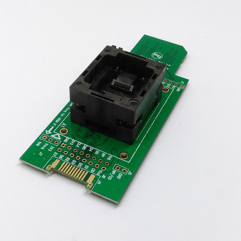 eMMC153 169 test Socket to SD interface for nand flash testing BGA169 BGA153 Reader Pitch 0.5mm For Reading Writing Data