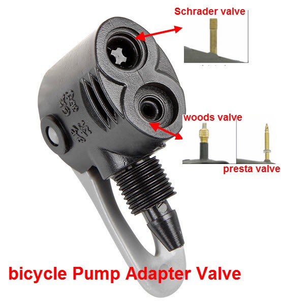Bike Tyre Air Pump Inflator Replacement Extension Hose Valve For Schrader C5Z8