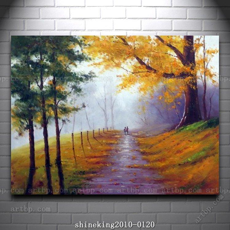 Western Decor Paint: Handpainted Landscape Oil Painting Impressionist Art