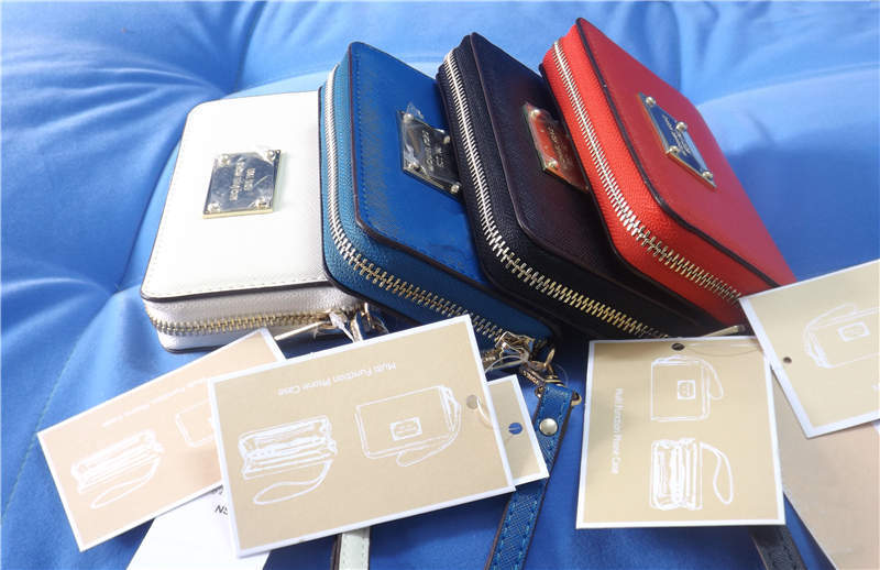 promo code 85cdd d7362 Famous brands phone case fashion Michaeled Leather wallet bags pouch for  iPhone 4/4s/5/5s/5c free shipping