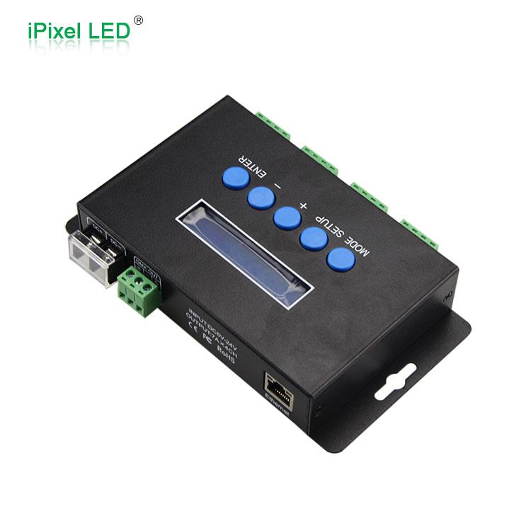 4 канала Artnet для DMX/SPI WS2812 WS2811 WS2801 пиксельный светодиодный Ethernet контроллер ручной переключатель
