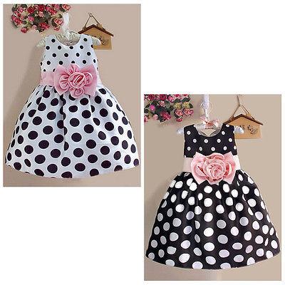 Princess Baby Kids Girls Party Wedding Polka Dot Flower Gown font b Fancy b font font