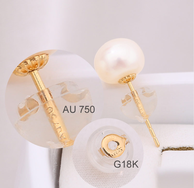 18K золотые свадебные ожерелье и серьги последний писк моды! Оптовая продажа культивированный пресноводный из натурального пресноводного жемчуга ювелирных изделий набор