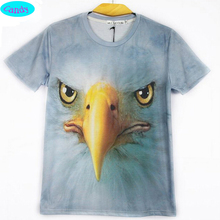 2016 new style animal t shirt teens girls personality street style eagle printed 3D tshirt children