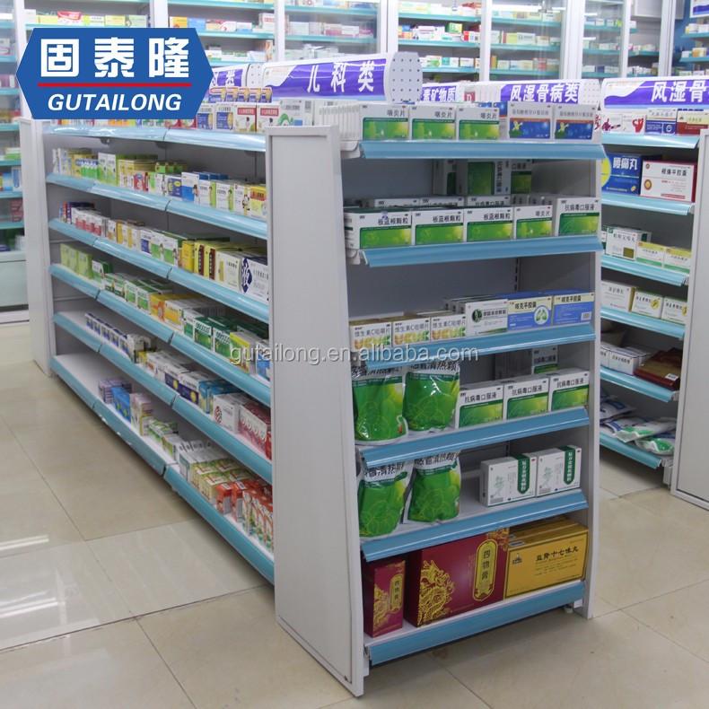 Медицинская Полка на заказ, стеллаж для аптечного магазина, полка для супермаркета
