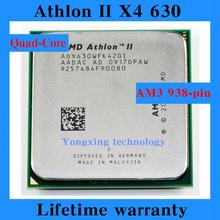 Lifetime warranty Athlon II X4 630 2.8GHz 2M Quad Core desktop processors ADX630 CPU Socket AM3 938 pin Computer