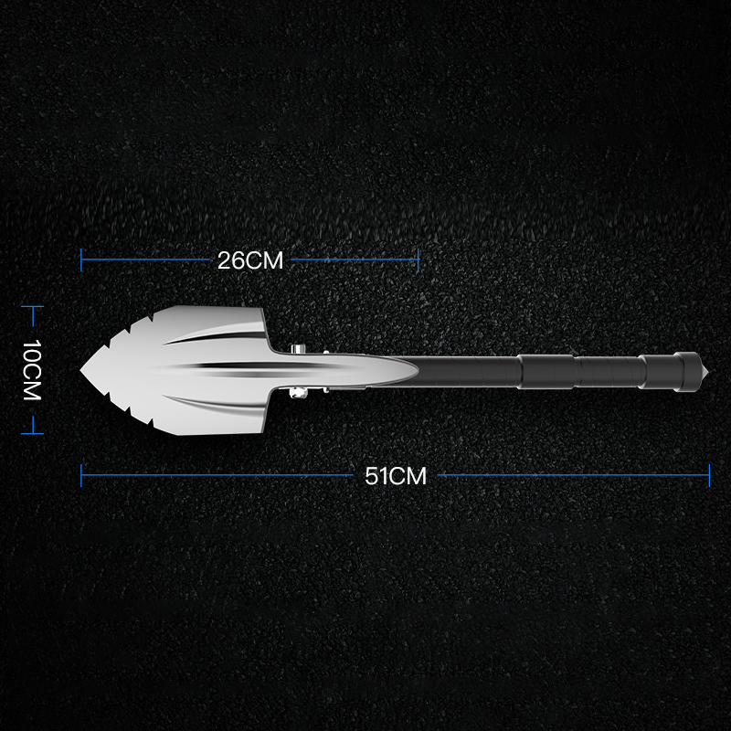 Double-headed Multifunction Folding Hiking Camping Outdoor Shovel