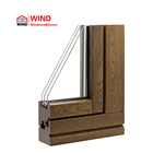 Glass Window Triple Glazing WIND Triple Glass Flush French Grill Design Tilt And Turn Sash Wooden Window