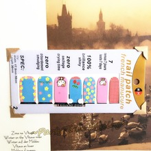 Cute Hello Kitty Cats Nail Arts Sticker 14 pcs set Waterproof Nail Decals Art Stickers Gel