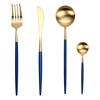 Main knife, fork, spoon and teaspoon