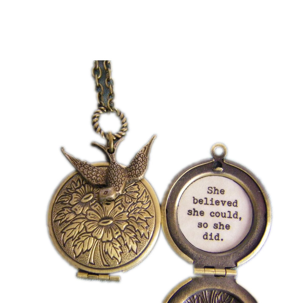 Graduation Jewelry She BELIEVED She Could Charm Necklace Inspirational Jewelry