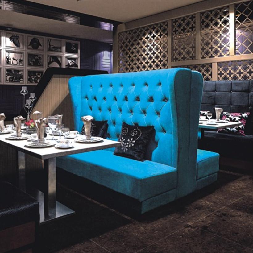 Single Side High Back Fabric Indoor Bench Booths For Restaurant Sets Buy Restaurant