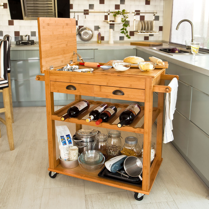 Serving Cart 3 Tier Kitchen Utility Cart On Wheels With Storage For Living Room Wood Look Accent Furniture With Metal Frame Buy Wooden Kitchen Trolley Kitchen Trolley Modren Kitchen Trolley Product On Alibaba Com