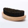 natural wood+black bristle