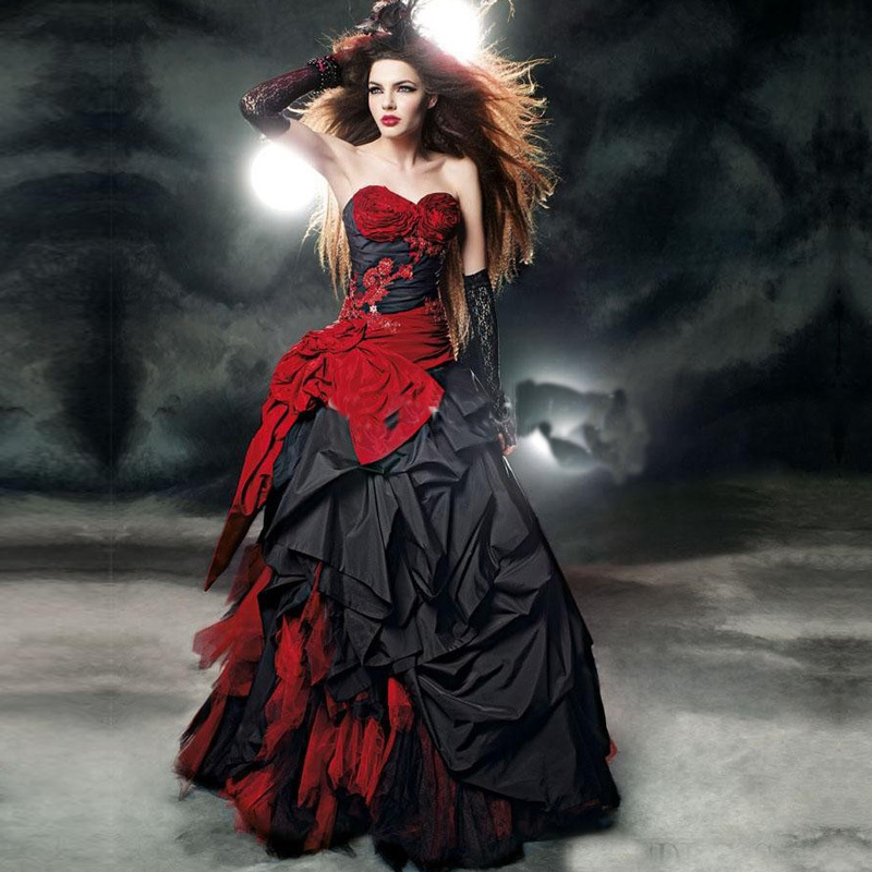 Compare Prices On Red Gothic Wedding Dress- Online