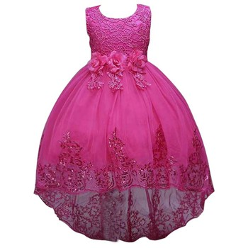 New Party Frock Designs Picture Beautiful Color Elegant Lace Kids Evening Mermaid Tail Dresses L8804