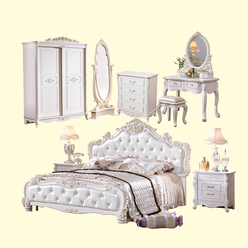 Very Cheap Price Antique White Bedroom Furniture Set - Buy Very
