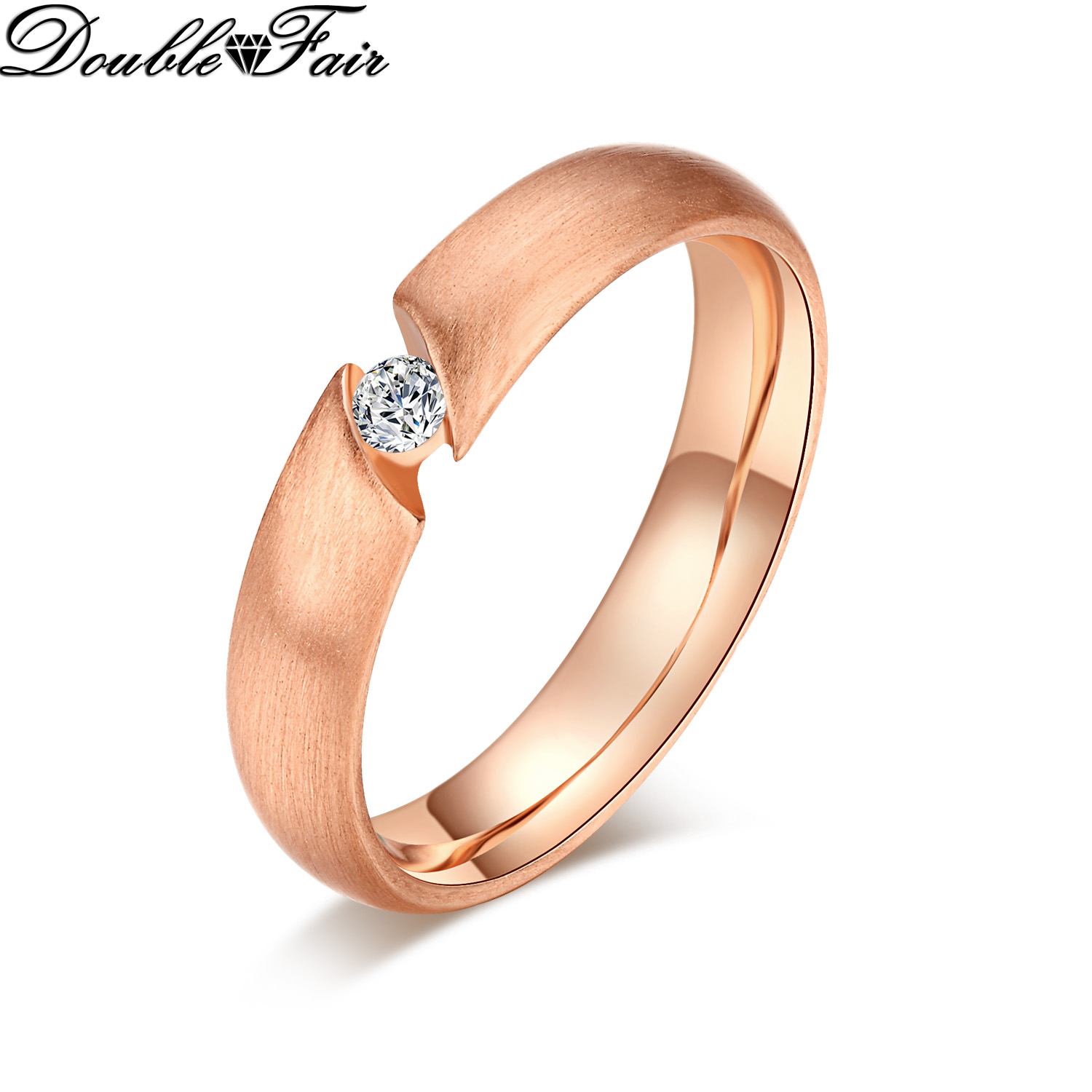 buy cz diamond wedding rings rose gold plated fashion crystal engagement ring. Black Bedroom Furniture Sets. Home Design Ideas