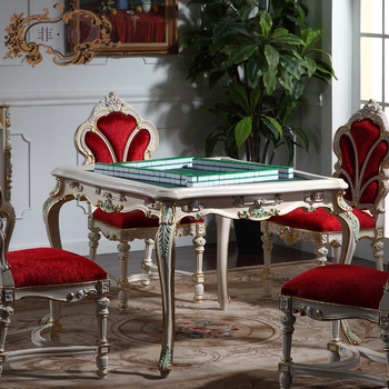 French Style Furniture-Palace Royal mah-jang Table French Provincial Dining Room classic wooden Furniture