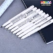 Marvy Sketch Liner/Brush 0.03mm/0.05mm/0.1mm/0.3/0.5/0.8/1.0mm Water Resistant Gundam Drawing Pen Design/Comic Painting Supplies