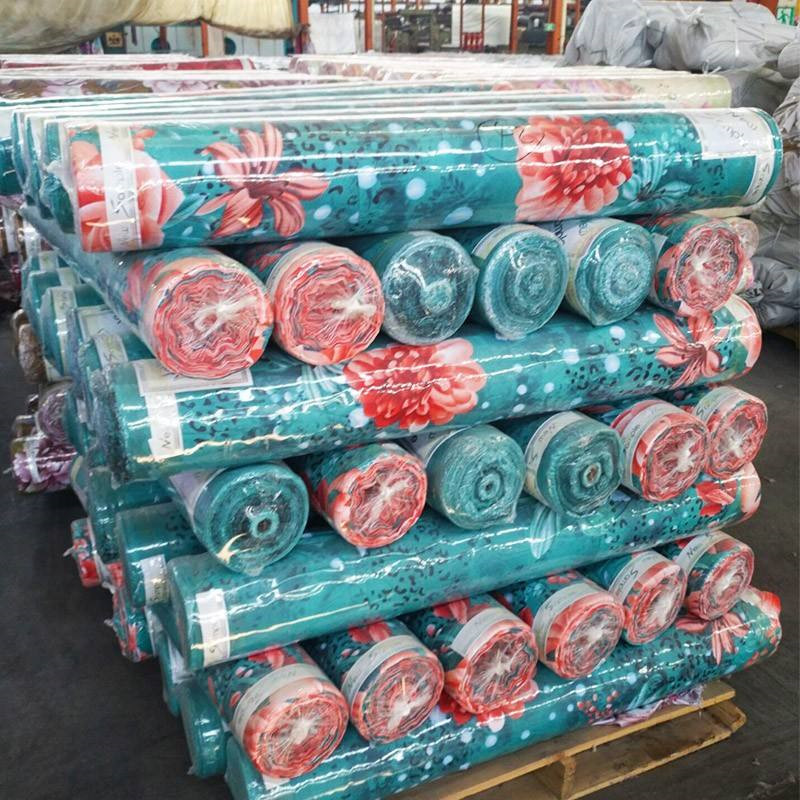 125gsm twill fabric 100% polyester microfiber bed sheet fabric for Pakistan market