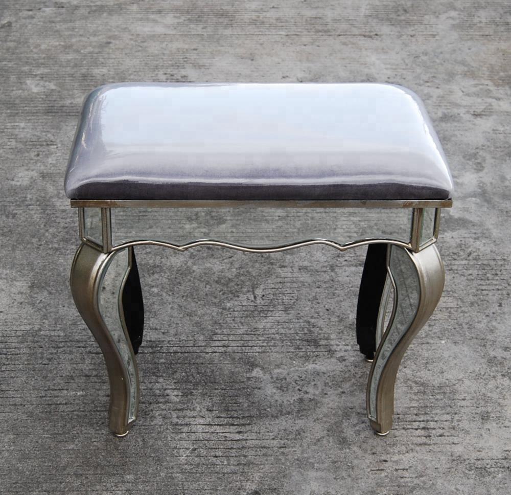 Зеркальный туалетный стул с тканью