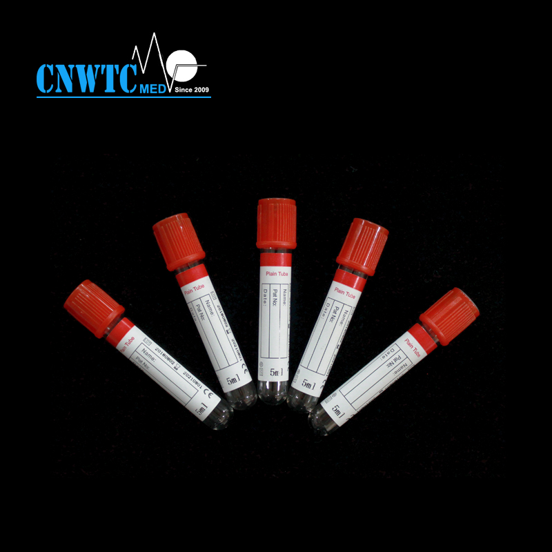 Plain activator Vacuum Blood Collection Tube for chemistry analysis