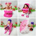 Free Shipping doll furniture Trolley Walker Toy umbrella rocking chair 4 set doll accessories for Barbie