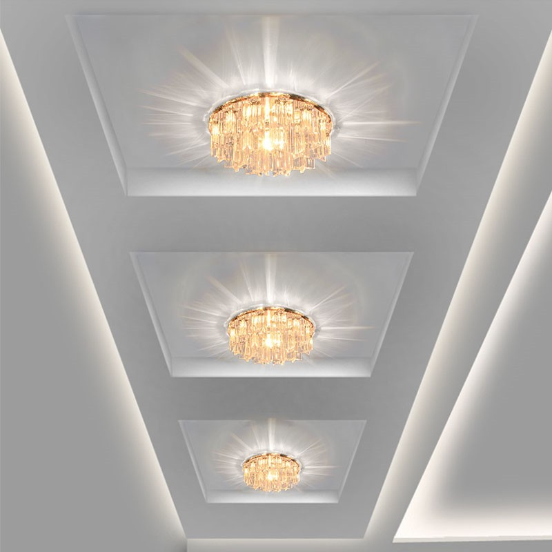 Modern Crystal LED Ceiling lights Fixture Indoor Lamp lamparas de techo 5W  LED Hallway Foyer Ceiling Lights Home Decor a268712fa882a