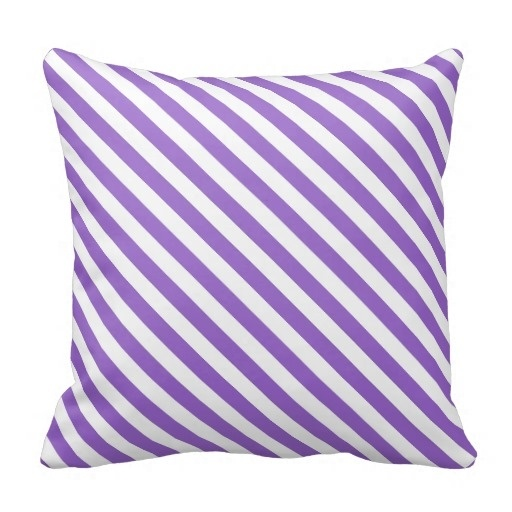 Throw Pillow Cover Set Amethyst Classy Striped Diagonal Throw Pillow Case (Size: 20