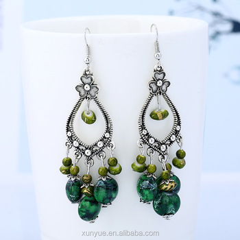 New earring national fashion sear antique long carved bohemian jewelry manufacturers direct sales