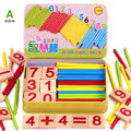 3 Type Hot Montessori Materials Wooden Math Counting Toy Preschool Spindles Wooden Math Digital Game Toys
