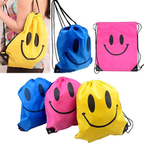 Face Drawstring Bag Mochila Swimming Bags School bags For Girls And Boys Cartoon Kids Backpack waterproof