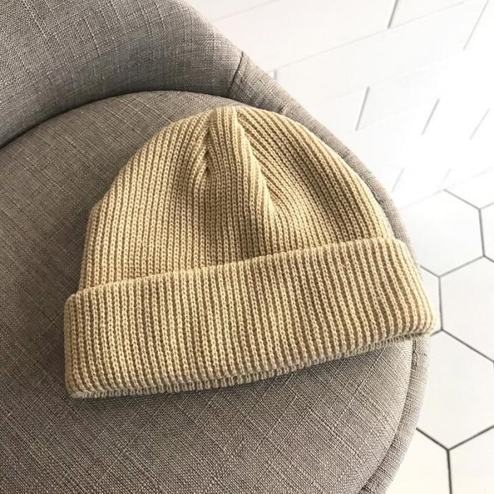 ce565c30fede 2019 2018 Men Knitted Hat Beanie Skullcap Sailor Cap Cuff Brimless ...