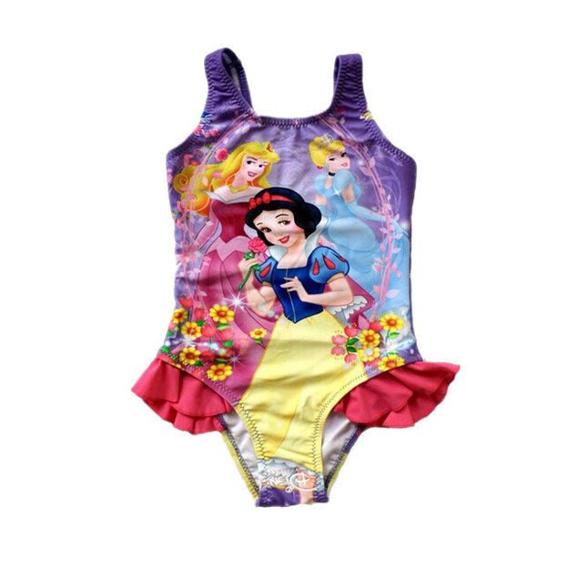 f1348646e2fae 2019 Wholesale 2015 New Kids One Piece Swimsuit Girls Snow White ...