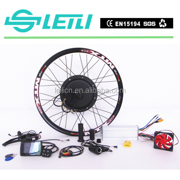 TFT display Superpower 48v 3000w cheap e-bike conversion kit