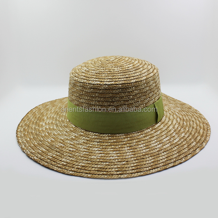 Durable antique farmer natural straw hat