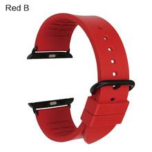 Новая мода цвет Orange fluororubber резиновый ремешок для спорта Apple Watch группа 42 мм 38 мм серии 1 & 2 iwatch ремешки(Китай)