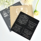 Acrylic Wedding Wedding 1/8inch Custom Size Full Color UV Printing Engrave Clear Acrylic Invitation For Wedding Or Parts