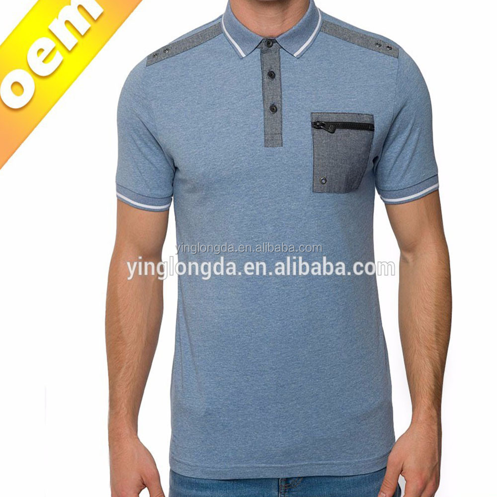 Chest Zipper Pocket Polo Collar And T-shirts Product Type New Men Stylish Polo Shirt T-shirts - Buy Polo Shirt Collar Design,Different Collar And Cuff ...