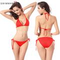 2016 Women Sexy Simple Comfortable Bikini Set Bandage Push Up Swimwear Bathing Suit Beachwear High Waist