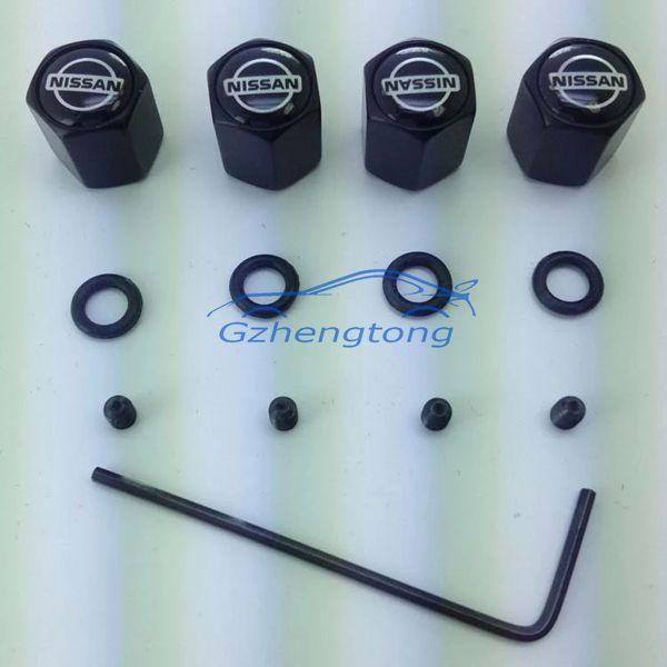 Воздушный клапан металлическую противоугонную шины для легковых автомобилей колпачки воздуха в шинах декор автомобилей для nissan 4 шт. бесплатная доставка