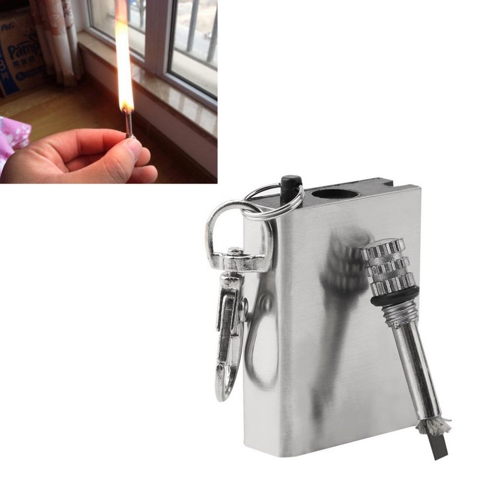 Бесплатная Доставка Аварийного Портативный Fire Starter Флинт Матч Зажигалка Металл Открытый Отдых Туризм Безопасность Мгновенного Инструмент Выживания