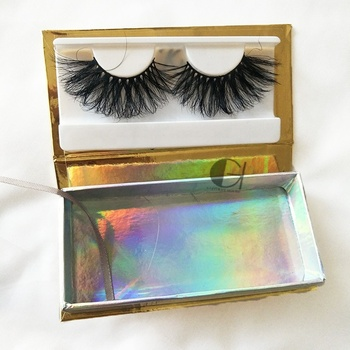 25mm Long Mink Fur Eyelashes Suppliers, Can Creat Your Brand 3D Mink Eyelashes Box, Own Logo Long 3D False Eye Lashes