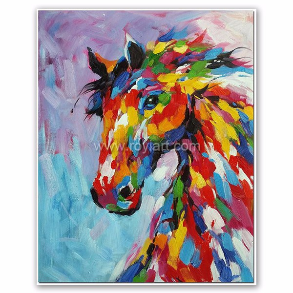 Home Decor Animal Pop Art Modern Colorful Horse Canvas Oil Painting Buy Horse Oil Painting Modern Animal Oil Painting Canvas Oil Painting Product On Alibaba Com
